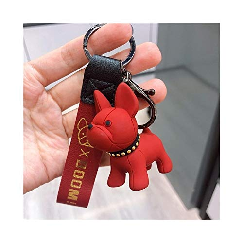 LDGR Moda Francese Punk Bulldog Portachiavi Dog Portachiavi for Il Sacchetto Donne Fascino Trinket Uomini Chiave dell'automobile Dell'anello Chiave della Catena (Color : 2)