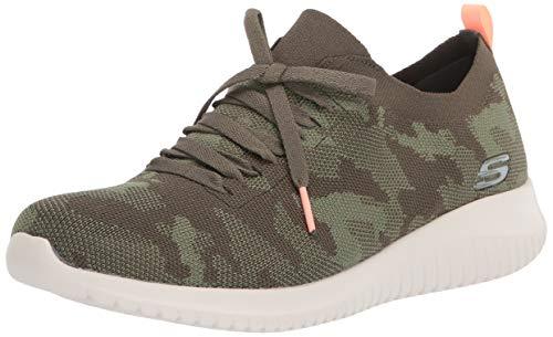 Skechers Women's Ultra Flex-Wild Pursue Sneaker, Olive, 7.5 M US