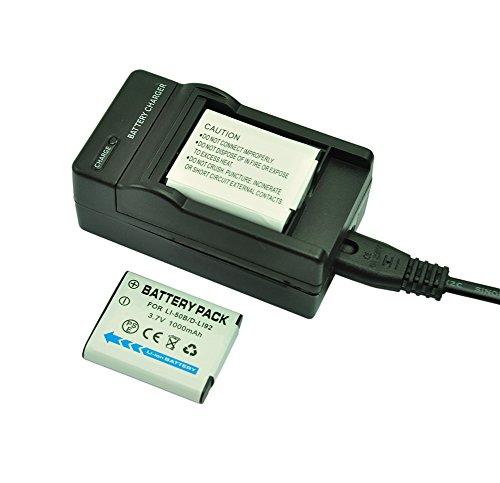 mondpalast@ 2X Reemplazo batería Li-ion type Li-50B / D-Li92 1000mAh +...
