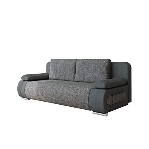 Schlafsofa Emma, Sofa mit Bettkasten und Schlaffunktion, freistehendes Bettfofa, Couchgarnitur, Schlafcouch, Couch vom Hersteller (Alova 36 + Lawa 05)