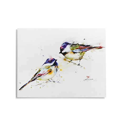 Demdaco Dean Crouser Songbird Watercolor White 6 x 5 Paper Notecards Pack of 16 Inch Magnetic Present Box
