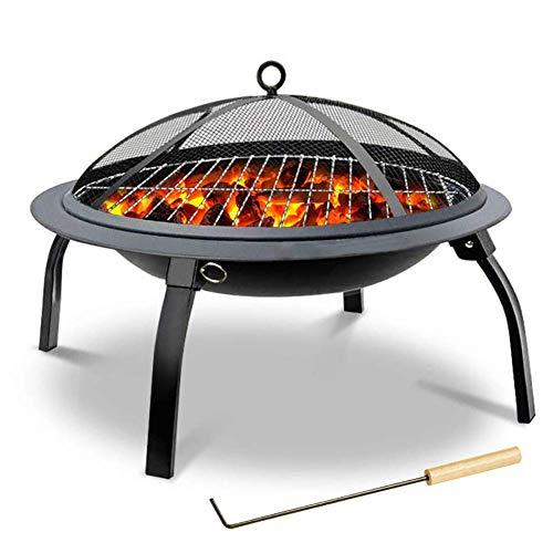 BOC Fogón al aire libre Cuenco plegable Estufa de barbacoa Estufa de barbacoa de carbón portátil Parrilla de brasero