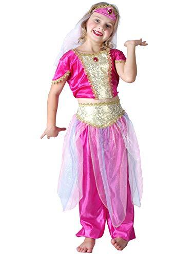 Generique - Orientalische-Tänzerin-Kinderkostüm pink-goldfarben 110/116 (4-6 Jahre)