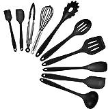 Kitchen Utensil Set, Silicone Heat-Resistant Non-Stick Kitchen Utensils Cooking Tools 10+1...