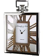 Gilde - Reloj de pie de Metal con Madera para una Pila AA (34 cm)