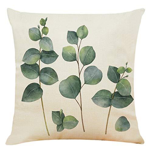 Funda de Almohada para abrazar, Funda de Almohada para abrazar con patrón de Hojas, Funda de Almohada para abrazar en Forma Verde, decoración del hogar