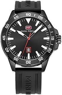 ساعة كوارتز للرجال انالوج بحركة كوارتز وسوار من السيليكون من ميني فوكس طراز MF0020G.04