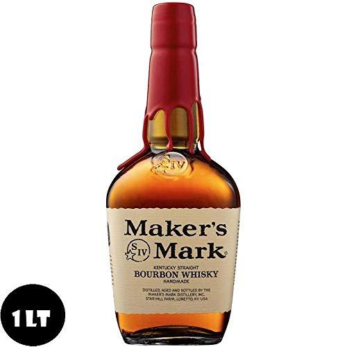 MAKER'S MARK BOURBON WHISKY KENTUCKY STRAIGHT HANDMADE 1 LITRO