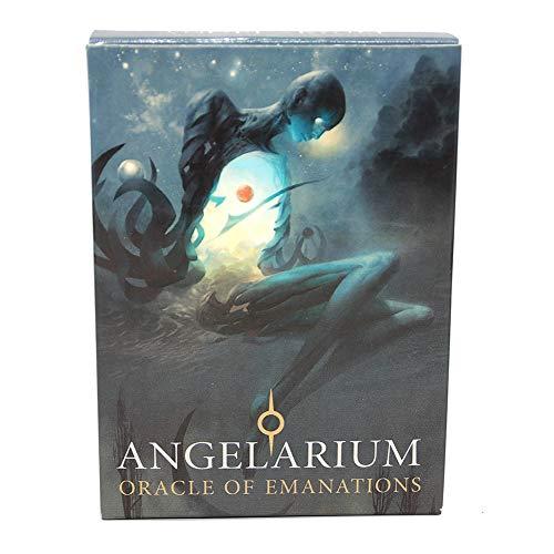 Angelarium Oracle of Emanations - Tarjetas de Cubierta de Vesion en inglés para Juego de Mesa de reunión Familiar, 33 Piezas