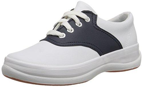Keds unisex-child School Days II Sneaker ,White/Navy,5 W US Big Kid