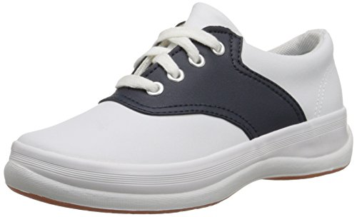 Keds boys School Days II Sneaker ,White/Navy,3 M US Little Kid