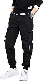 Fansu Men's Chino Jogger Pants, Fit Casual Workout Trousers Tracksuit Bottoms with Zip Multi-Pockets Drawstring Elasticate...