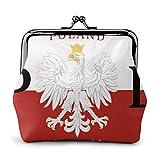 Monedero de la Bandera polaca Polonia Polska para Las Mujeres pequeña Bolsa de Cambio portátil Embrague exquisitos Bolsos de Monedas con Hebilla Carteras con Cierre de Broche de Cuero
