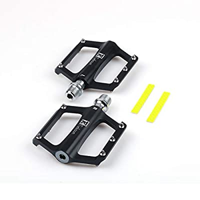 Tiekoun Mountain Bike Pedals, 9/16 Inch Non-Slip Platform Flat Road Cycling Bicycle Pedals (qut070)