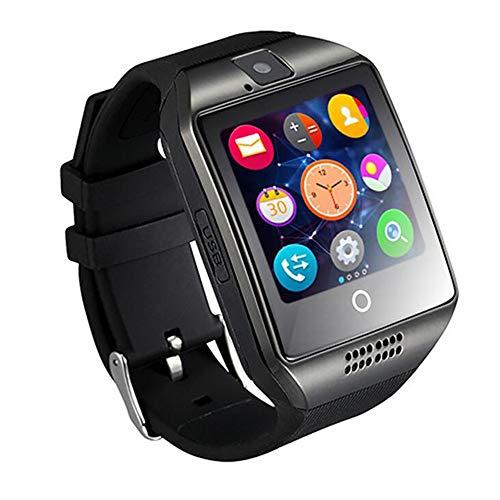 gfjfghfjfh Smart Watch Q18 con cámara Facebook Whatsapp Twitter Sync SMS Smartwatch Soporte SIM TF Card para iOS Android