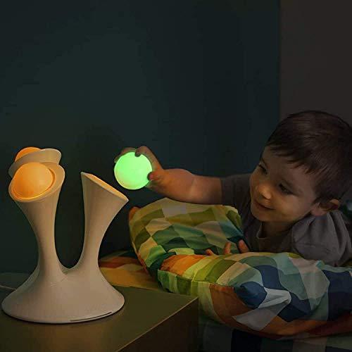 WRISCG Lámpara Escritorio Gradiente Colorido portátil Luminoso, lámpara de Hongo y Sensor de Bola Brillante, lámpara de Noche para ni?os, una Vez viajó al ba?o, Dormitorio