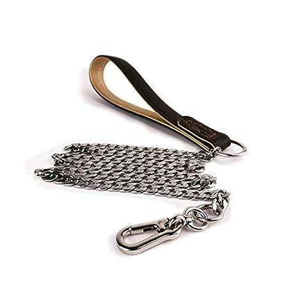 Mit der gepolsterten Ledergriffleine, Länge des Zugseilseils: 25 cm. Komfortabel und weich gepolstert, strapazierfähig, Zugfestigkeit, um Ihre Hand nicht zu verletzen. Aus widerstandsfähigem Edelstahl 304 gefertigt, verhindern Sie ein Stechen, kein R...