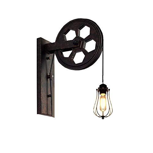 Retro lampada da parete retrò vintage illuminazione industriale luci da parete rustiche filo metallico gabbia da parete lampada da parete indoor luci retrò luce (senza lampadina) [classe energetica A