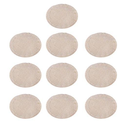 FLAMEER 10 szt. filtr tkaniny do syfonu ekspres do kawy beżowy średnica 110 mm