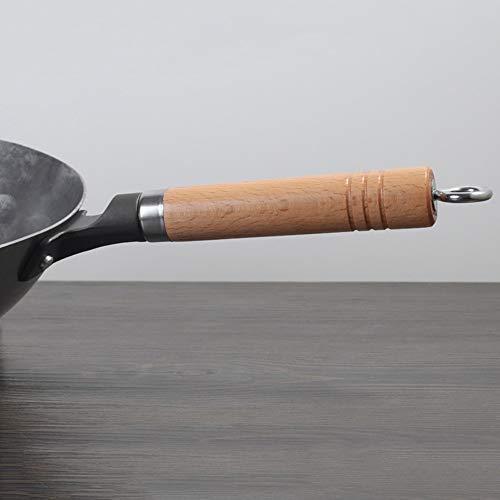 41sDjqDrWeL - YWSZJ Woks Traditionelles Eisen Wok Handgemachtes Großes Wok & Holzgriff Antihaft-Wok-Gaskochfeld Pfanne Küchenkochgeschirr (Size : 36cm)