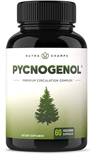 Pycnogenol Pine Bark - Premium Supplement with 200mg Herbal Complex for Circulation, Blood Flow & Nitric Oxide Production - Superior Absorption & Results with Black Pepper Extract