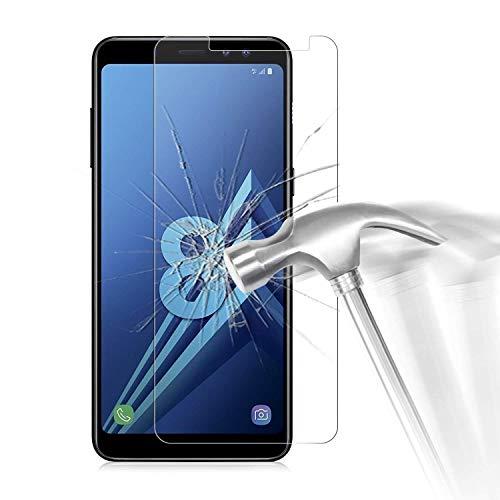 HQ-CLOUD 1 Films Vitre Verre Trempé de Protection d'écran Haute Transparence - Anti Rayures - Ultra Résistant Dureté 9H Samsung Galaxy A8 2018