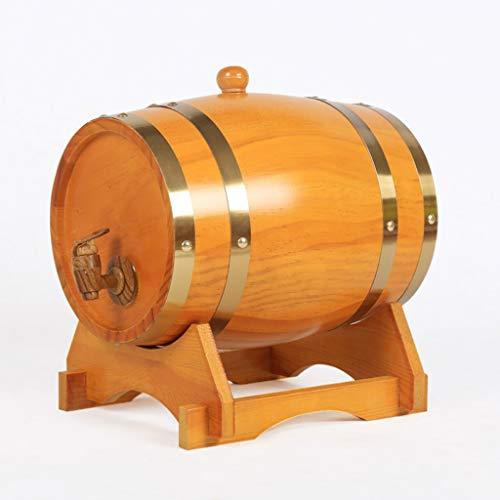 Ann-Portaghiaccio Botte di Rovere in Legno di Vino Botte di Rovere, Botti di Rovere Vintage da 5 Litri per Conservare o Invecchiare La Birra di Whisky di Vino (Color : Beige, Size : 5L)