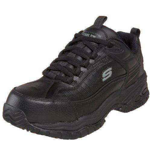Skechers for Work Men s Soft Stride Lace Up,Black,12 M
