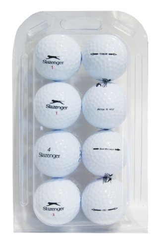 Second Chance Slazenger, Set 48 Palline da Golf, Categoria A Unisex, Bianco
