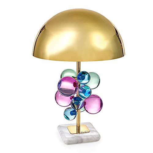 XGCHENGID Lámpara de Mesa Moderna de mármol Junto a la Cama Regalo Decorativo Creativo E27 LED Lámpara de Mesa de Metal de Cristal para Sala de Estar Dormitorio de la Boda