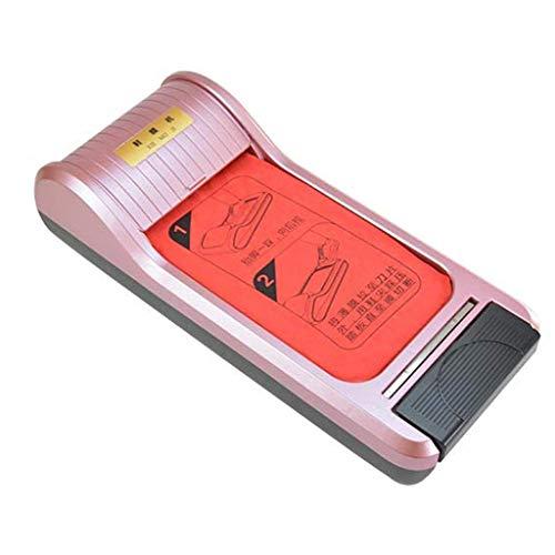 ZLXLX Indoor schoenfoliemachine Home Office-schoenfoliemachine, dispenser met 3-rollen wegwerpschoenfolies, vloerbedekking, wegwerpapparaten roze