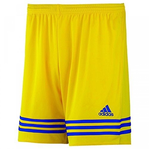 adidas Pantaloncino Corto Entrada 14 Giallo/Blu F50635, Taglia XXL