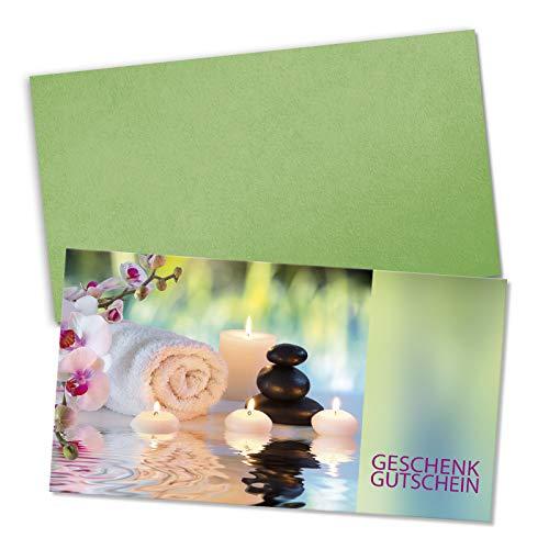 10 hochwertige Gutscheinkarten + 10 Kuverts. Gutscheine für Kosmetiker Kosmetikstudio Kosmetik Beauty Wellness. Vorderseite hochglänzend. KS1233