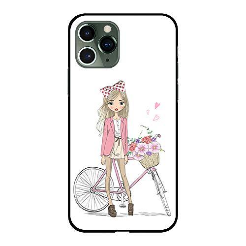 BJJ SHOP Schwarz Hülle für [ iPhone 11 Pro Max ], Klar Flexible Silikonhülle, Design: Puppe mit...
