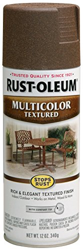 Rust-Oleum 223523 Stops Rust Multi-Color Textured Spray Paint, 12 oz, Autumn Brown