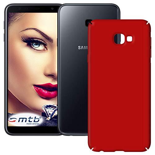 mtb more energy® Hardcase Slim Armor für Samsung Galaxy J4 Plus, J4+ 2018 (SM-J415, 6.0'') - Rot - Schutz Hülle Cover Tasche