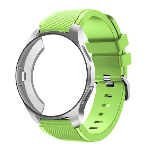 BAAIFC Funda 2 en 1 y correa para Samsung Galaxy Watch 46 mm S3 para Huawei Watch GT 2 de 46 mm de banda de reloj de protección completa (color: 9, tamaño: reloj Galaxy 46 mm)