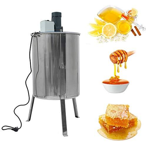 OLAS Honigschleuder elektrisch 220V 120 W,4 Waben Edelstahl Honey Extractor Bienenzucht Ausrüstung Imker für Anfänger Bienenzüchter (Silber Elektrisch)