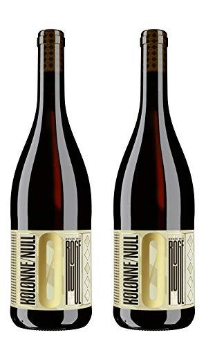Kolonne Null - Alkoholfreier Rotwein Cuvée Rouge No 01 vom Weingut Haus Fürst Hohenlohe Oehringen - 0% Vol. Alk -2er Pack- 2x 0,75 L Flasche