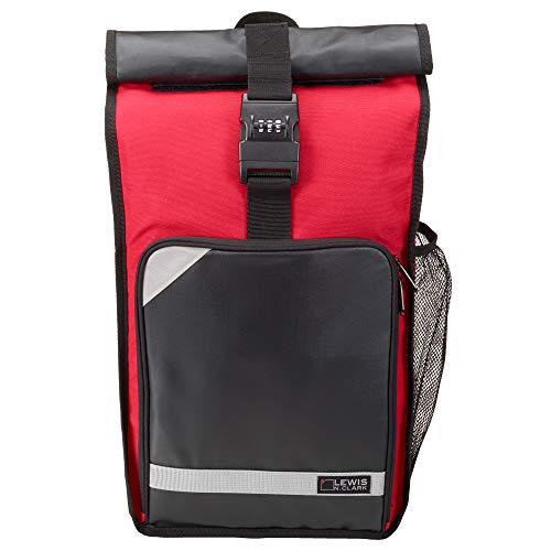 Lewis N. Clark Locking Day Pack + Laptop Bag Sling with 3 Digit Resettable Combination, Padded Shoulder + Back Straps