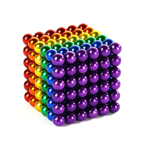 Ma-gnetic Ball 3 Mi-llimeterVariety Fun Toy Fidget Gadget Marble Bead Jigsaw Creative Imagination Desk Toys and Decompression Building Blocks Game Blocks-Colorful (3Millimeter-216Pieces)