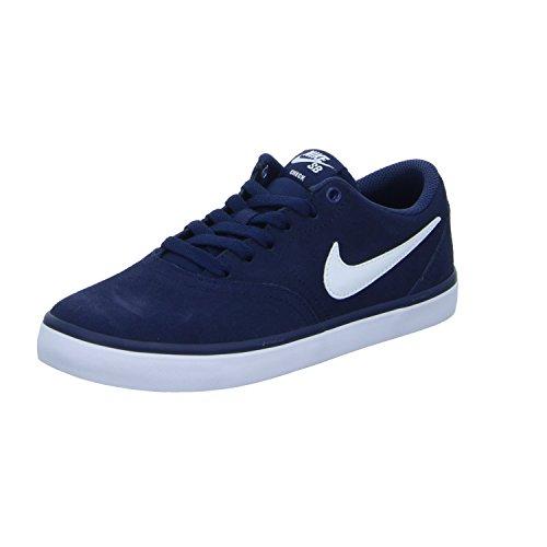 Nike Sb Check Solar, Chaussures de Skate Homme, Azul (Azul (midnight navy/white)), 39 EU