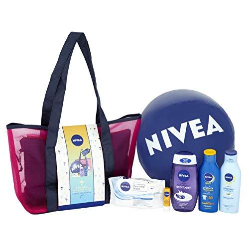 Nivea Sun Geschenkset Sea Sand and Me Strandtasche mit 6 Teilen