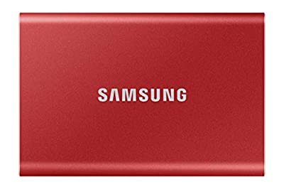 Samsung T7 Portable SSD - 500 GB - USB 3.2 Gen.2 External SSD - Metallic Red (MU-PC500R/WW)