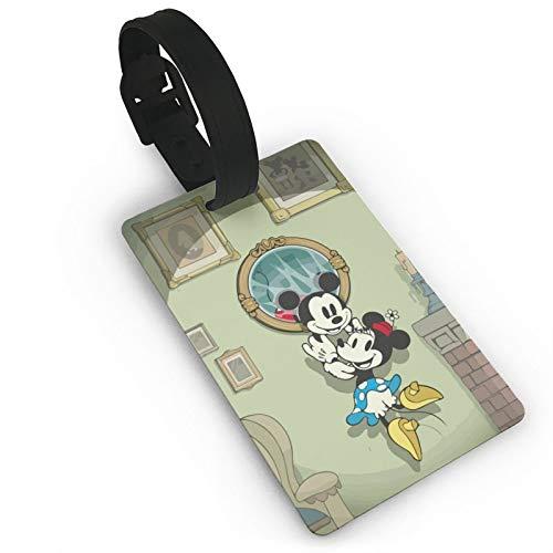 DNBCJJ Etiquetas de equipaje para maletas Mickey Mouse tomó la etiqueta de equipaje Minnie con nombre ID maleta para mujeres, hombres, niños accesorios de viaje