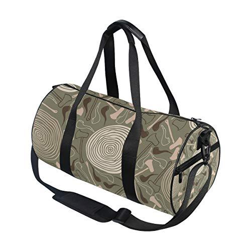 MALPLENA Axt und Tabakpfeife Gym Duffel Bag Damen Reisetasche
