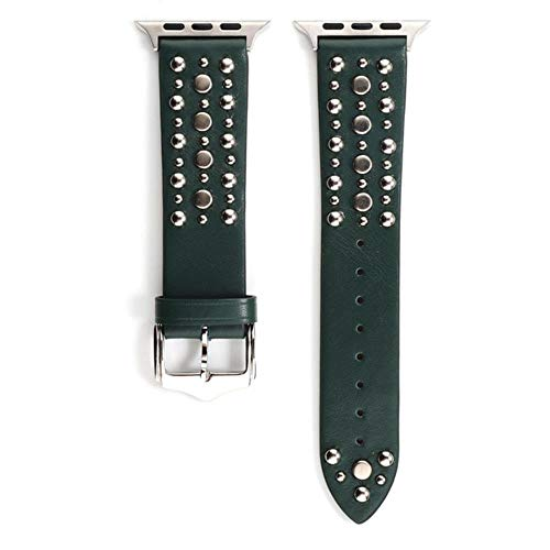 WEIZI Rivets Band para Apple Watch Series 6/5/4/3 SE correa de deporte correa iwatch 38mm 40mm pulsera Apple Watch 44/42mm correa de cuero