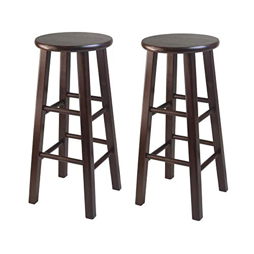 "Winsome Pacey Stool, 29"", Walnut"