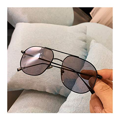 SSN Aviator Style Retro Caja Gafas De Sol Femenina Versión Coreana De Las Gafas De Visión Nocturna Amarilla Clásica De Los Hombres De Moda, Gafas De Sol Gafas De Sol (Color : A)