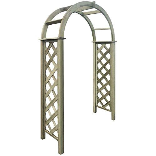 Festnight Pergolato Arco a Traliccio Porta in Legno Verde di Pino Impregnato per Pianti da Giardino per Esterno 110 x 30 x 230 cm